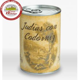 Judías con codorniz Huertas Gourmet.