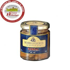 Tarro de morrillos de atún en aceite de oliva 250 Gr Herpac